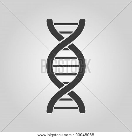 The Dna Icon. Genetic Symbol. Flat