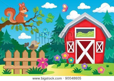 Farm topic background 2 - eps10 vector illustration.