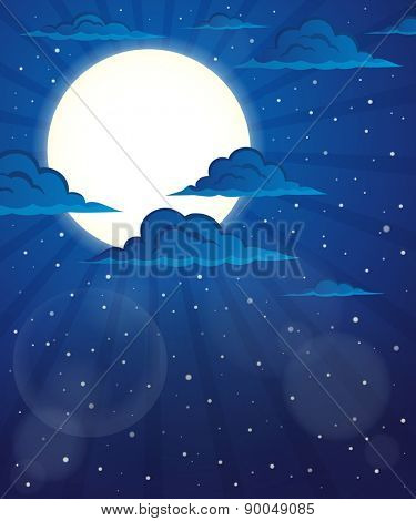 Night sky theme image 5 - eps10 vector illustration.