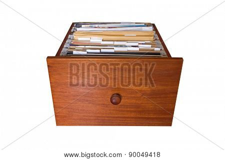 File cabinet drawer isolated on white background