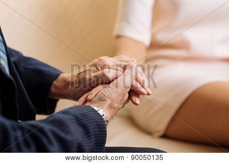 Comforting patient