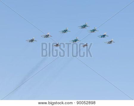 Aerobatics Over Moscow