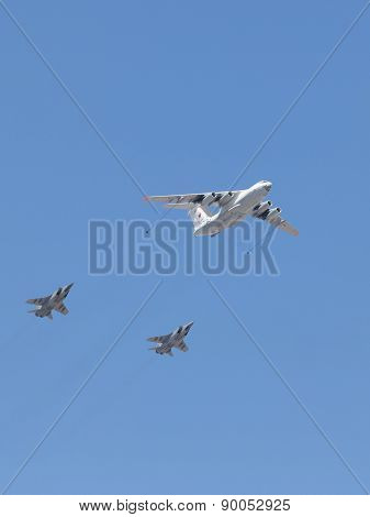 Steam Refueling Military Attack Aircraft