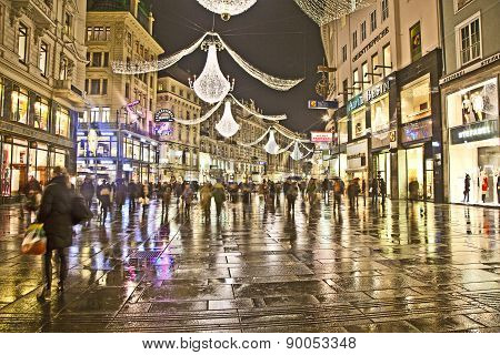 Famous Graben Street By Night