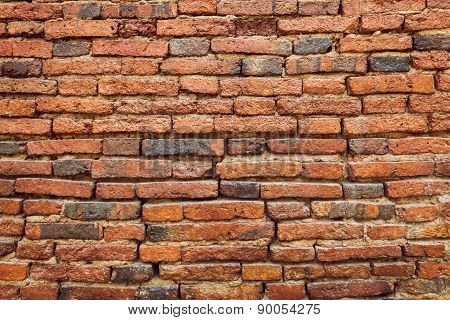 Red Old Brick Wall Texture Background