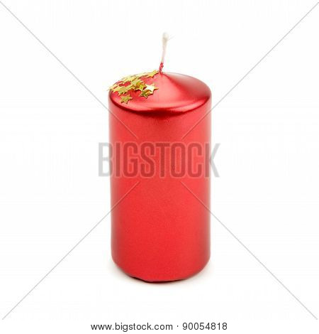 Candle Isolated On A White Background