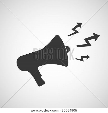 Icon Megaphone With Arrows.