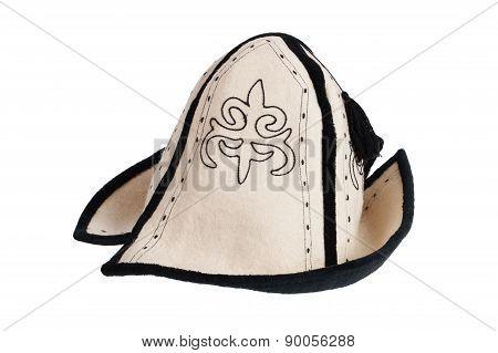 Felt Hat On A White Background
