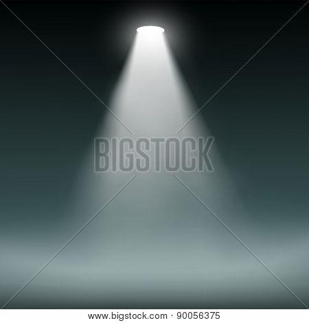 Lantern Illuminates The Dark Background.