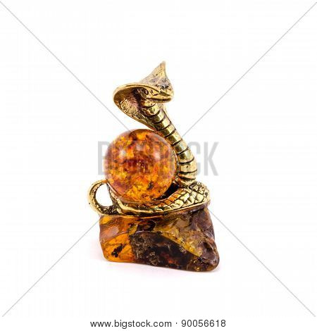 Figurine of the snake with amber