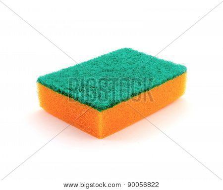 Sponge on white
