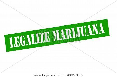 Rubber stamp with text legalize Marijuana inside vector illustration