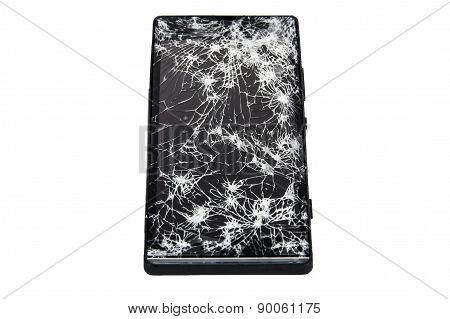 Modern Mobile Smartphone With Broken Screen