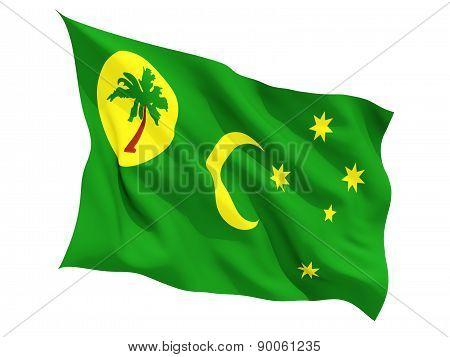 Waving Flag Of Cocos Islands