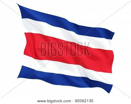 Waving Flag Of Costa Rica