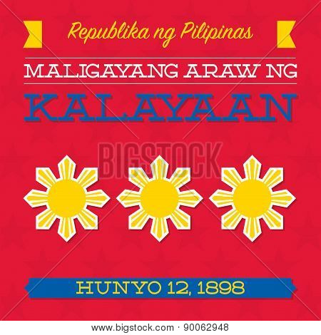 Philippines Independence Day Card In Vector Format.