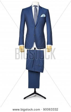 Mans Suit Isolated On White