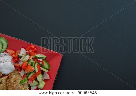 Chopped Cutlets With Garnish