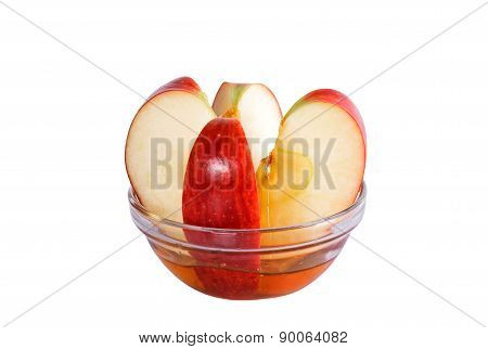 Red Apple With Honey