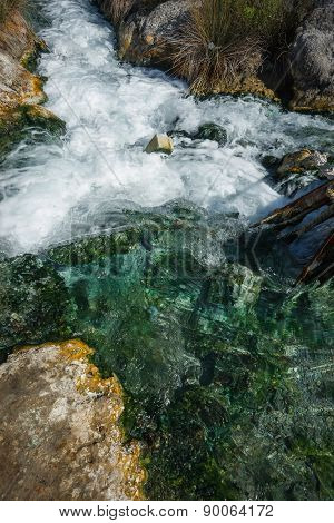Picturesque Thermal Springs In Thermopiles, Greece