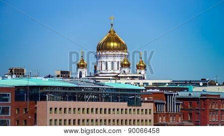 Moscow City Landscape With Architectural Landmarks