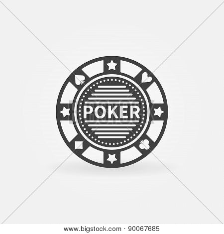 Poker chip vector icon