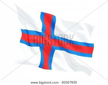 Waving Flag Of Faroe Islands