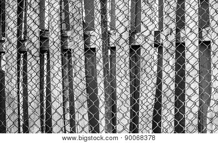 Wood And Wire Fence