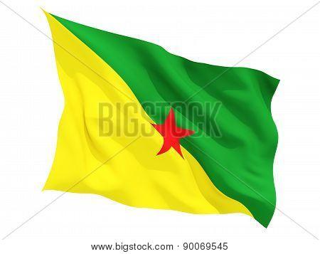 Waving Flag Of French Guiana