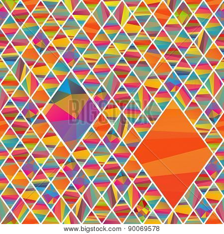 seamles  pattern with colorfull rhombus