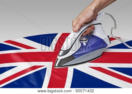 Smooth Out The Wrinkles Of Flag-great Britain