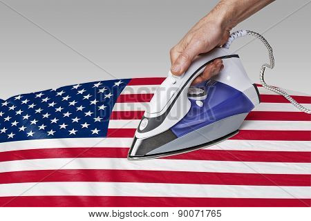 Smooth Out The Wrinkles Of Flag-usa