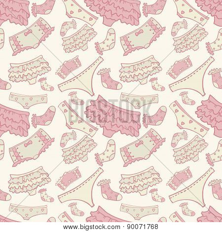 Underwear seamless pattern with other pants and socks. For web design and  other