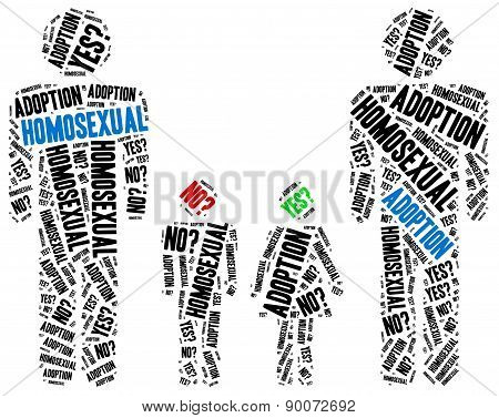 Homosexual Adoption. Word Cloud Illustration.