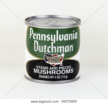 Can Of Pennsylvania Dutchman Mushrooms
