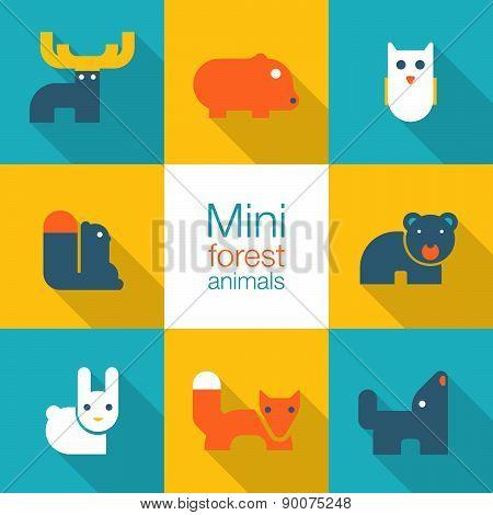 Minimal Forest Animals