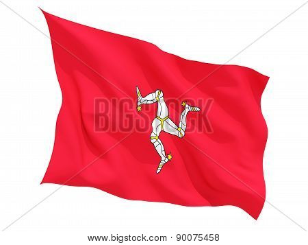 Waving Flag Of Isle Of Man
