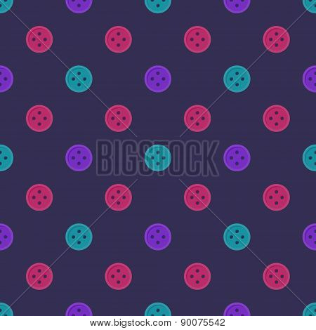 Bright seamless pattern made of buttons