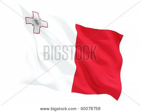 Waving Flag Of Malta