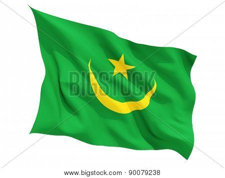 Waving Flag Of Mauritania