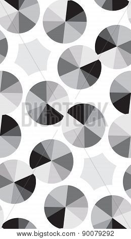 Silver Compact Disc Pattern