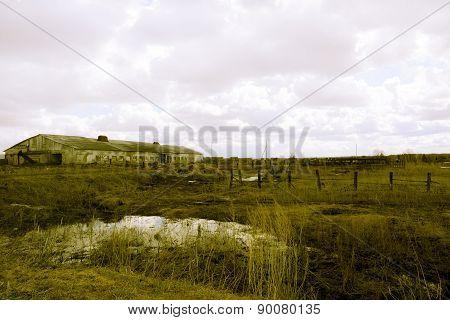 Retro deserted farm