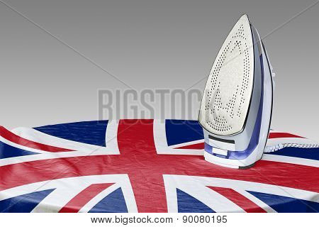 Preparing To Smooth Out The Wrinkles Of Flag-gb