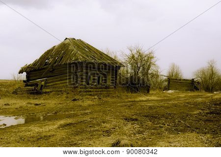 Retro deserted village in the Russian province