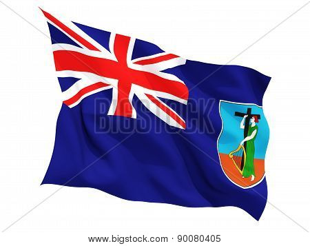 Waving Flag Of Montserrat