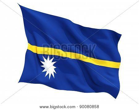 Waving Flag Of Nauru