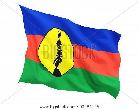 Waving Flag Of New Caledonia
