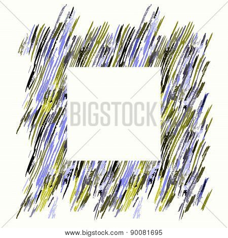 Hand Drawn Brush Pen Hand Drawn Doodle Pattern. Vector Background Grunge Texture
