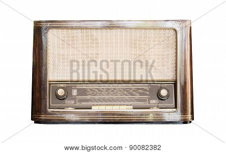 Old Radio Receiver Of The Last Century Isolate
