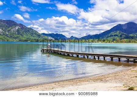 pictorial St Wolfgang lake in Austria